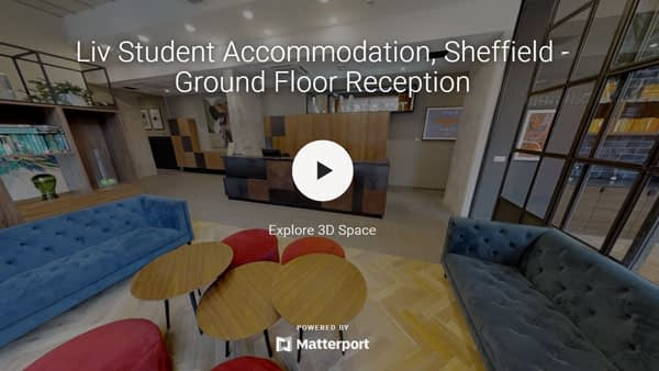 liv Student Sheffield – ground floor reception
